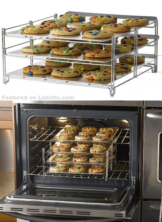 Tiered cookie rack! The perfect solution for large batches.