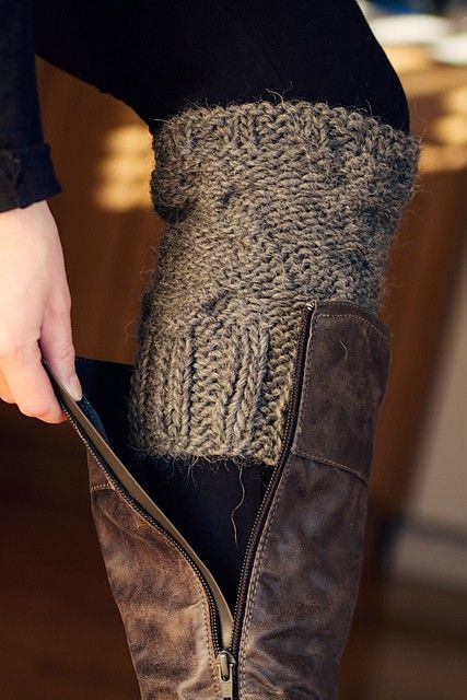 DIY easy boot warmers! ~ A great list of DIY style, clothing and life hacks every girl should know! Everything from organization to bra straps! Tips for teens and women. Listotic.com