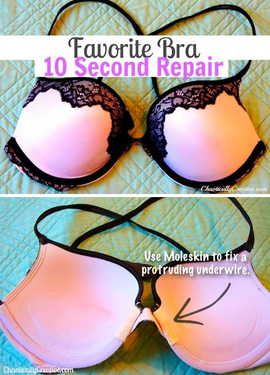 #22. How to easily fix protruding underwire! ~ 31 Clothing Tips Every Girl Should Know