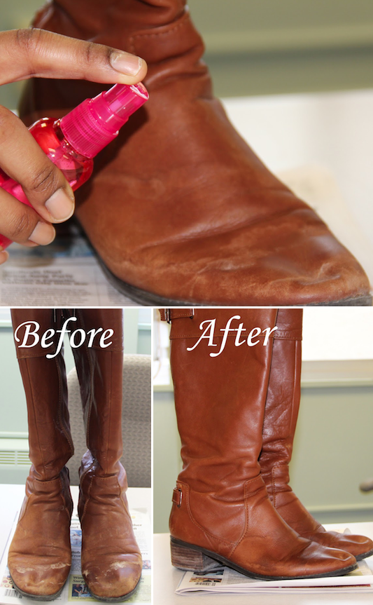 How to clean and remove salt stains from boots! ~ A great list of DIY style, clothing and life hacks every girl should know! Everything from organization to bra straps! Tips for teens and women. Listotic.com