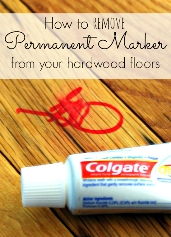 How to remove permanent marker from wood floors --  Perfect for a lazy girl like me. Listotic.com
