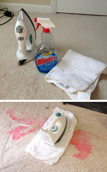 The best way to get stains out of your carpet. -- DIY household cleaning tips, tricks and hacks for your home bathrooms, kitchens, bedrooms, floors, furniture and more! Perfect for a lazy girl like me. Listotic.com