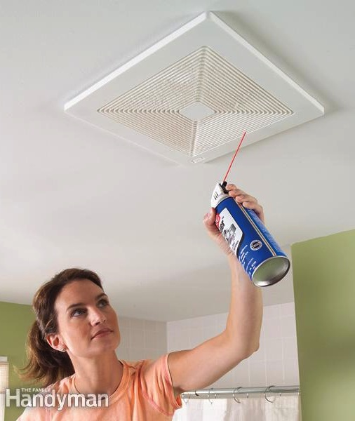 How to clean bathroom exhaust fans the easy way -- DIY household cleaning tips, tricks and hacks for your home bathrooms, kitchens, bedrooms, floors, furniture and more! Perfect for a lazy girl like me. Listotic.com