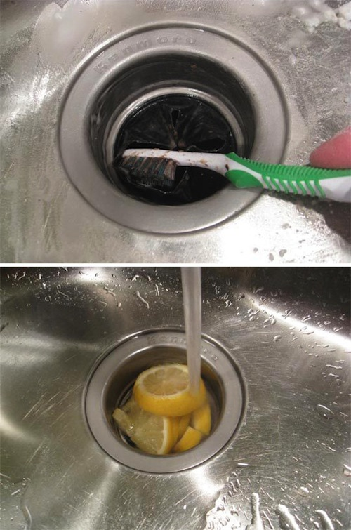 The best way to clean your kitchen sink -- DIY household cleaning tips, tricks and hacks for your home bathrooms, kitchens, bedrooms, floors, furniture and more! Perfect for a lazy girl like me. Listotic.com