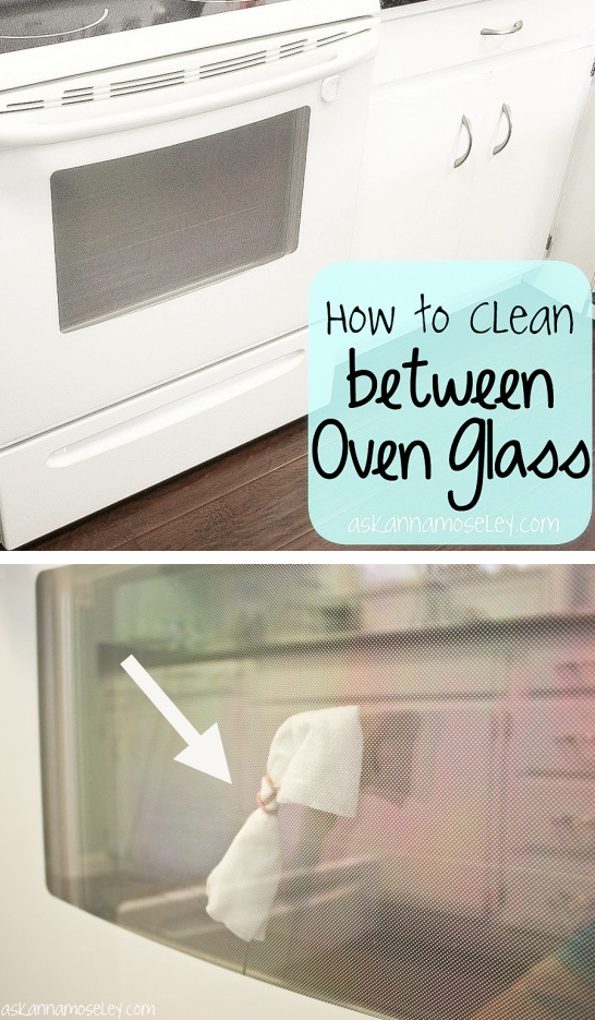 How to clean between oven glass the easy way -- DIY household cleaning tips, tricks and hacks for your home bathrooms, kitchens, bedrooms, floors, furniture and more! Perfect for a lazy girl like me. Listotic.com