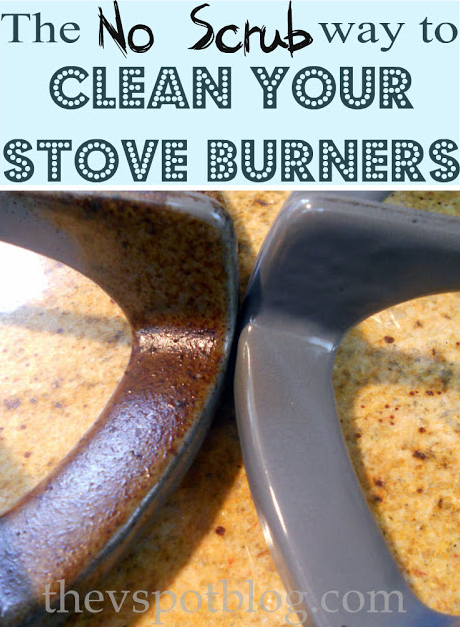 How to clean stove burners -- DIY household cleaning tips, tricks and hacks for your home bathrooms, kitchens, bedrooms, floors, furniture and more! Perfect for a lazy girl like me. Listotic.com