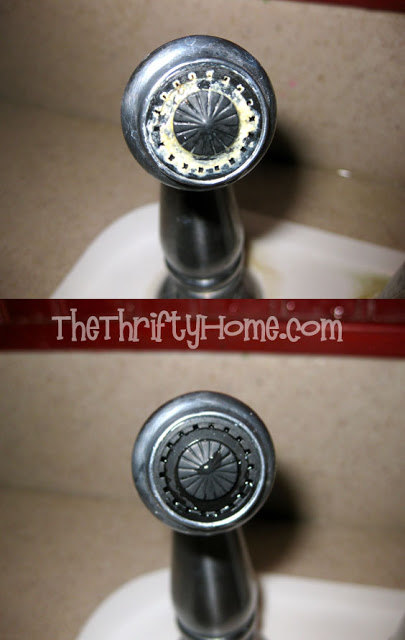 How to remove hard water from faucets -- DIY household cleaning tips, tricks and hacks for your home bathrooms, kitchens, bedrooms, floors, furniture and more! Perfect for a lazy girl like me. Listotic.com