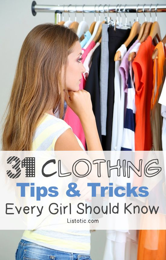 31 Clothing Tips Tricks Every Girl Should Know With Pictures