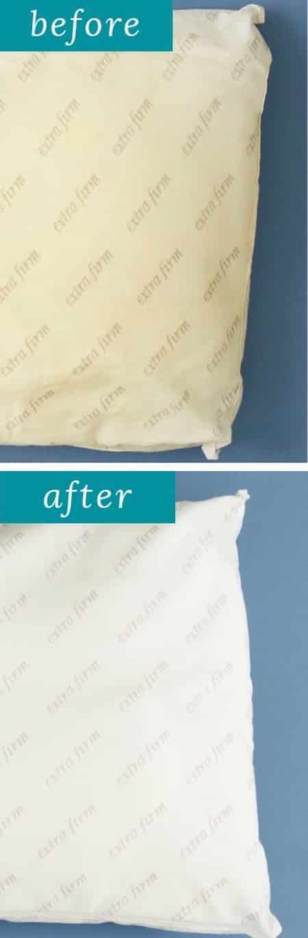 DIY: How to wash pillows in the washing machine! -  Perfect for a lazy girl like me. Listotic.com