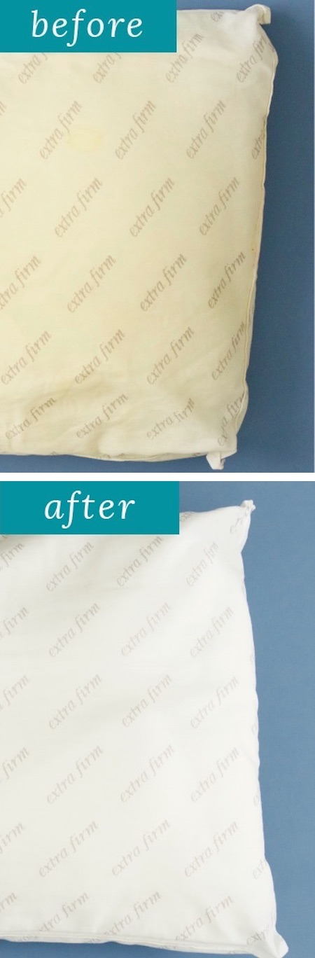 DIY: How to clean pillows in the washing machine! - DIY household cleaning tips, tricks and hacks for your home bathrooms, kitchens, bedrooms, floors, furniture and more! Perfect for a lazy girl like me. Listotic.com