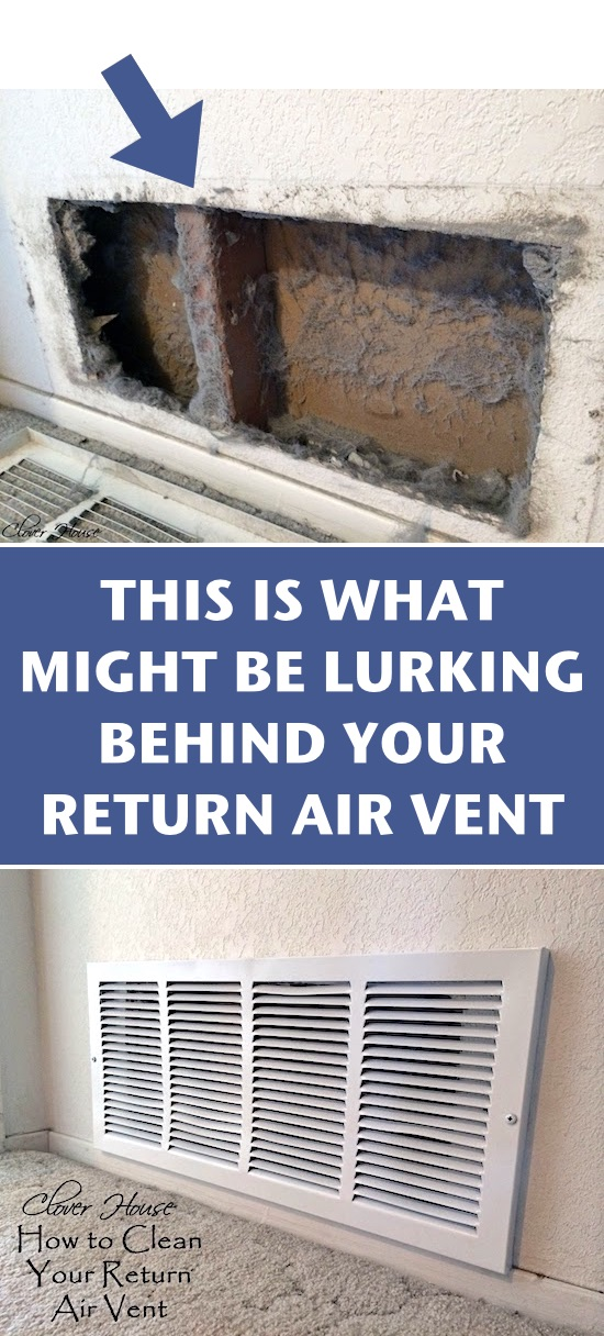 How to clean return air vents in your home or apartment. -- A list of cleaning tips and tricks for lazy people (for the bathroom, bedroom, kitchen and more!). Listotic.com