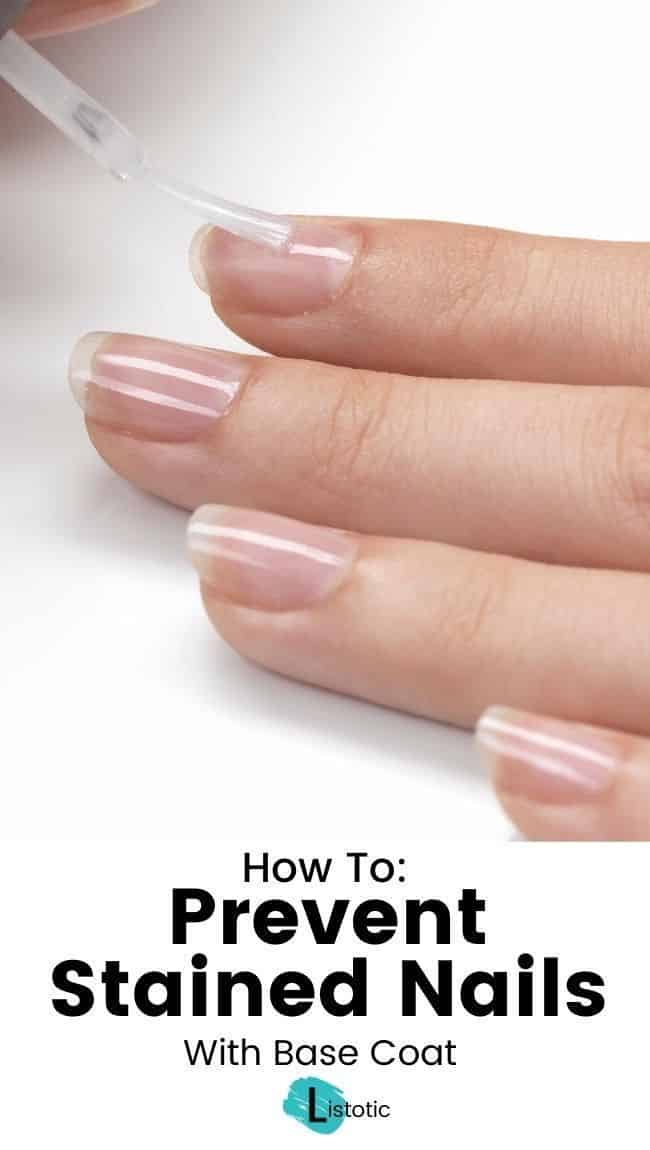 keep nails white with preventive base coat to keep nails and toenails white
