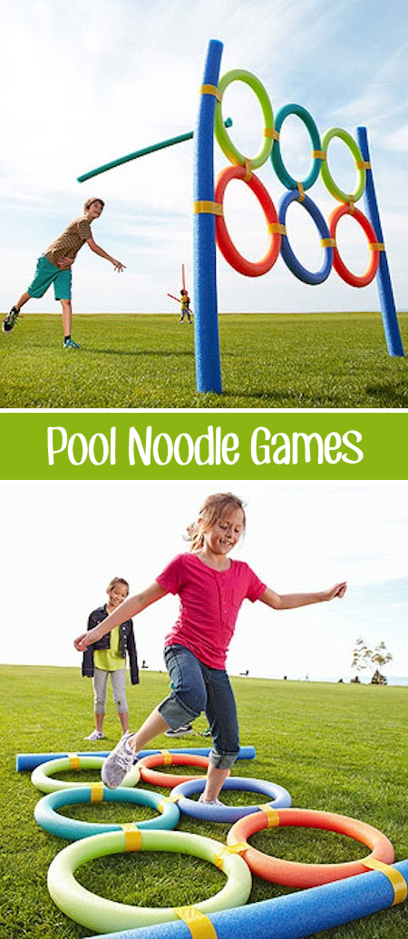 32 Of The Best DIY Backyard Games You Will Ever Play -- Pool noodles aren't just for the pool!