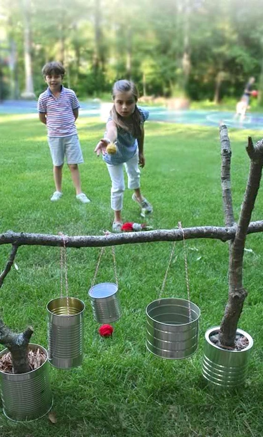32 Of The Best DIY Backyard Games You Will Ever Play -- Super easy and cheap to make! This game is challenging even for adults.