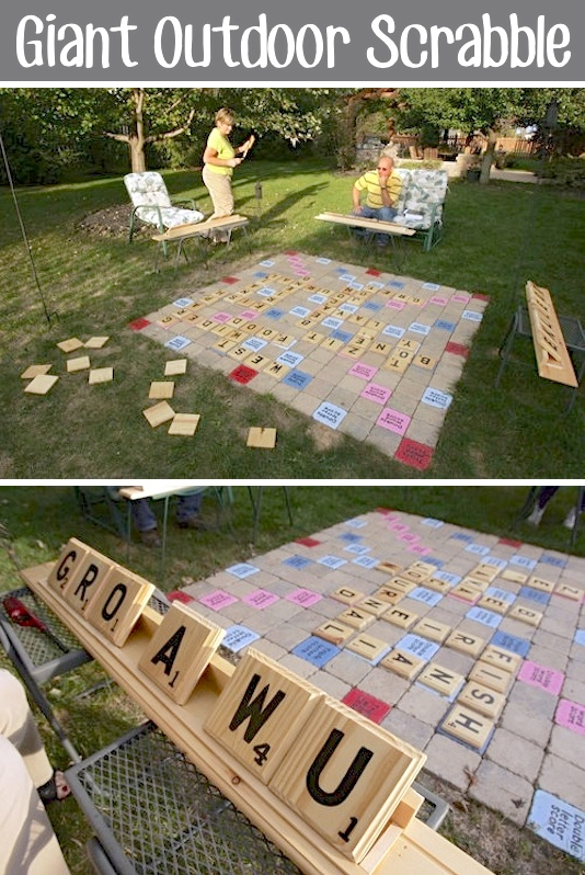 Merveilleux 32 Of The Best DIY Backyard Games You Will Ever Play    GIANT Outdoor  Scrabble
