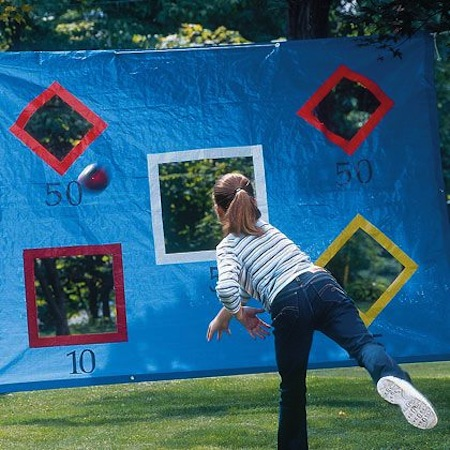 32 Of The Best DIY Backyard Games You Will Ever Play -- How fun is this?! Just a tarp and duct tape.