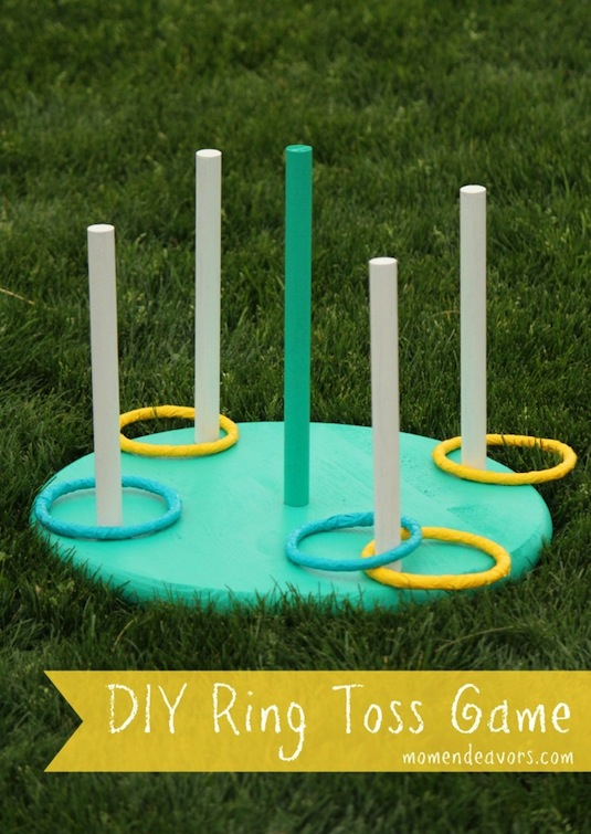32 Of The Best DIY Backyard Games You Will Ever Play -- DIY ring toss!