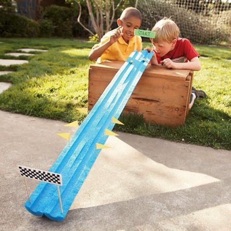 32 Of The Best DIY Backyard Games You Will Ever Play -- Fun idea using just a pool noodle.