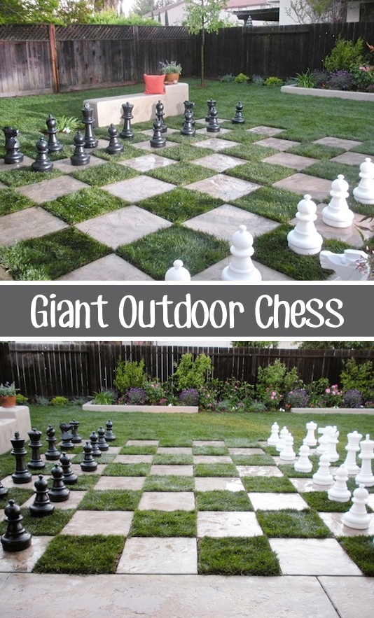 32 Of The Best DIY Backyard Games You Will Ever Play -- SO MUCH FUN! And the pieces can be purchased on Amazon.