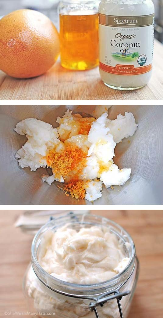 Easy Homemade Body Butter made with 3 ingredients! -- Easy DIY cheap gift ideas for Christmas, birthdays, boyfriends, girlfriends, family, friends and more! These simple, last minute crafts and projects make for special gifts anyone can do! Creative ideas to sell too! Listotic.com
