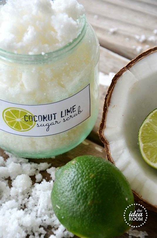 DIY Sugar scrub for gifts. -- Easy DIY cheap gift ideas for Christmas, birthdays, boyfriends, girlfriends, family, friends and more! These simple, last minute crafts and projects make for special gifts anyone can do! Creative ideas to sell too! Listotic.com