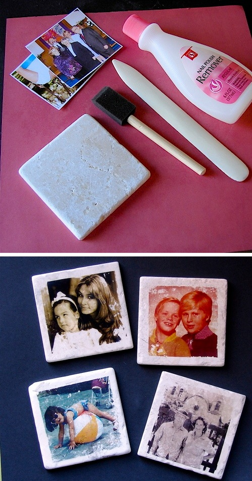 35 easy diy gift ideas people actually want for christmas more custom photo tile coasters so easy to make easy diy cheap gift negle Images