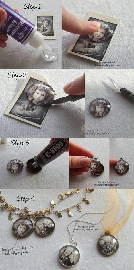 DIY photo pendants! Easy DIY cheap gift ideas for Christmas, birthdays, boyfriends, girlfriends, family, friends and more! These simple, last minute crafts and projects make for special gifts anyone can do! Creative ideas to sell too! Listotic.com
