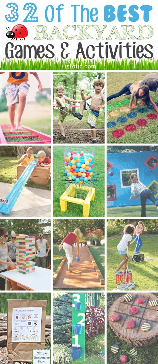 32 Fun DIY Backyard Games To Play (for Kids U0026 Adults!)