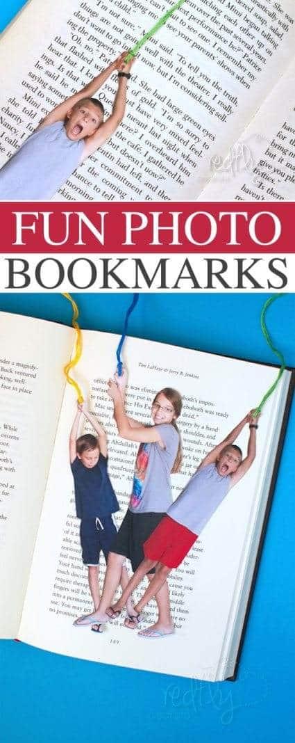 photo bookmark diy gift idea