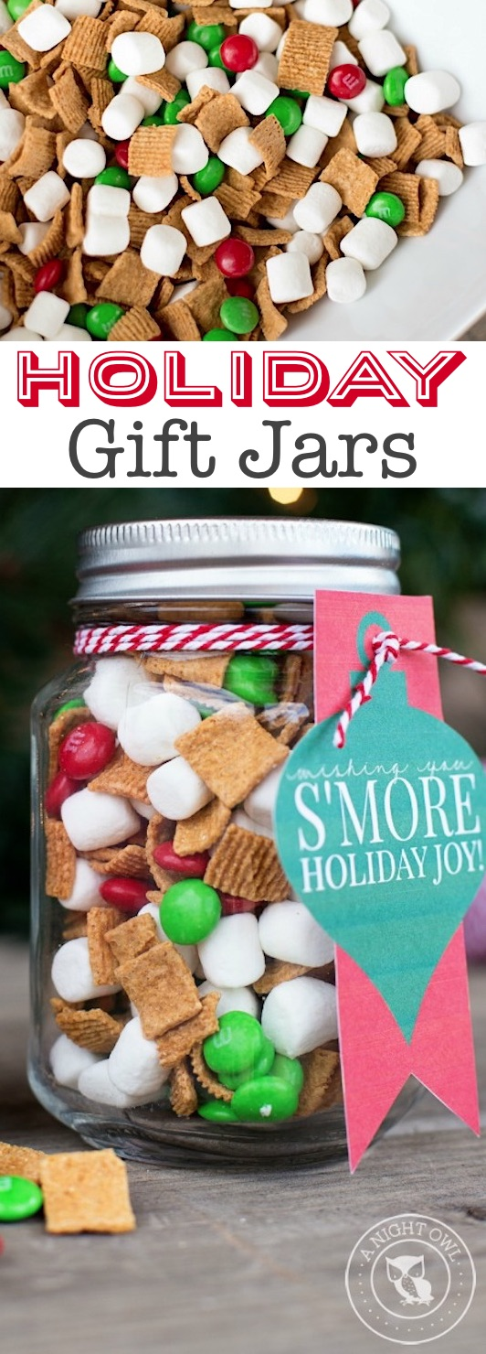 Super easy last minute Christmas gift! These homemade holiday mason jar gifts with free printables are perfect for just about everyone! A huge list of DIY gifts people actually want.... Listotic.com