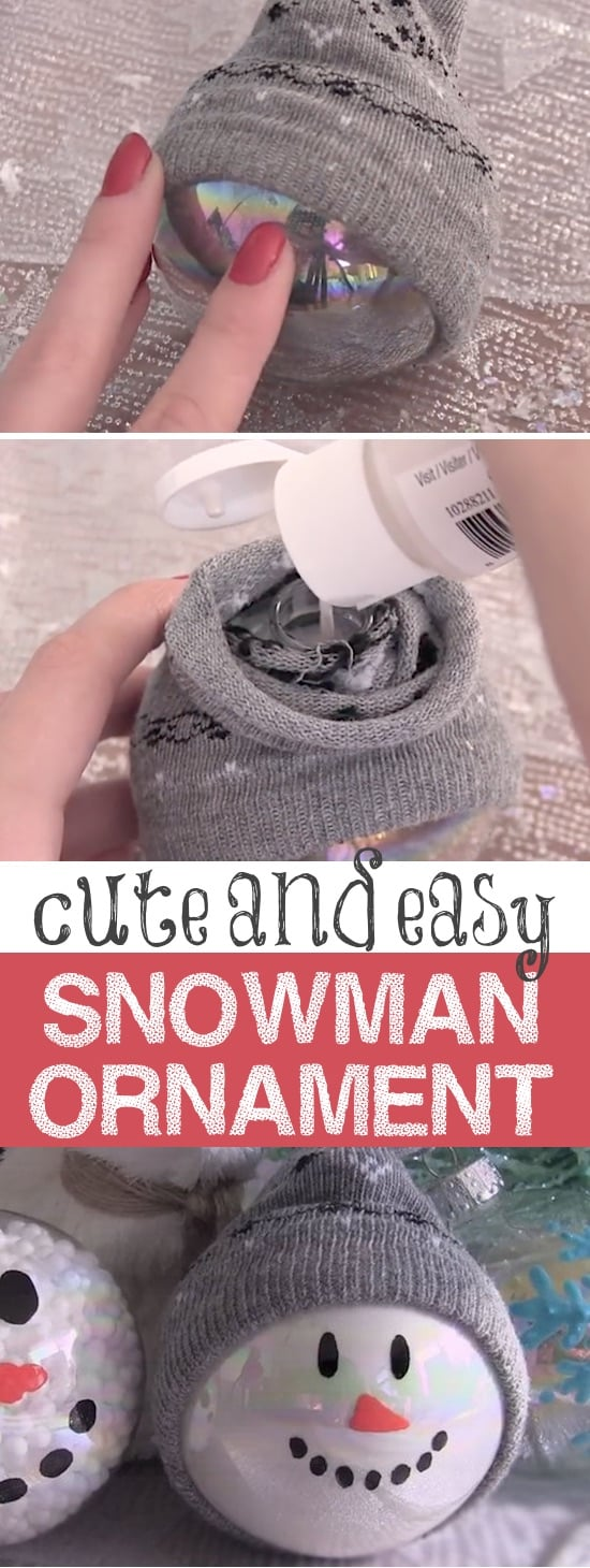 DIY Snowman Ornaments -- Easy Christmas gift idea! These simple, last minute crafts and projects make for special gifts anyone can do! Creative ideas to sell too! Listotic.com