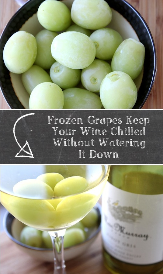 How to keep your wine cold without watering it down! Some really awesome kitchen, food, drink and cooking tips and tricks here! Life hacks every girls should know. Listotic.com