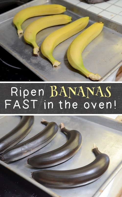 How to ripen bananas quickly in the oven! Super helpful kitchen, cooking and food tips here! Life hacks every girl should know. Listotic.com