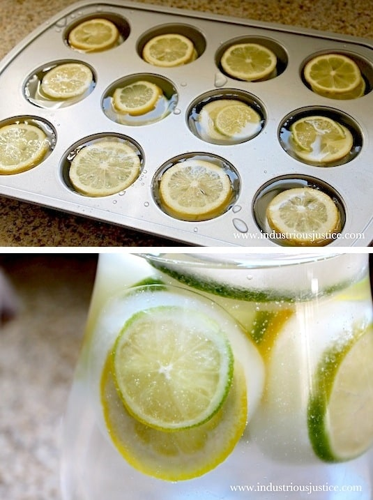 A super easy party idea for a crowd! Use a muffin pan to make large ice cubes filled with fruit. Lots of kitchen, food and cooking tips here. Life hacks ever girl should know. Listotic.com