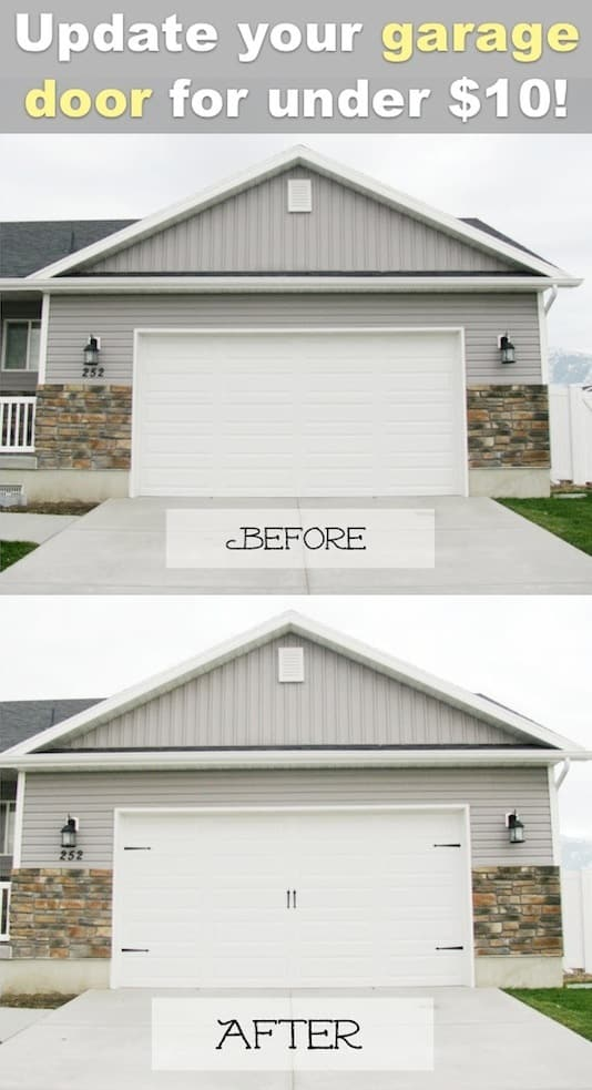 I love these curb appeal ideas and exterior makeovers! Lots of easy DIY projects on a budget for your entryway, landscaping, porch, front yard, garage doors and more! Before and after photos included. | Listotic.com