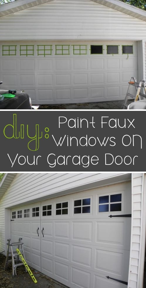 How to easily update your garage door for cheap. I love these curb appeal ideas and exterior makeovers! Lots of easy DIY projects on a budget for your entryway, landscaping, porch, front yard, garage doors and more! Before and after photos included. | Listotic.com