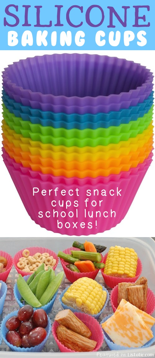 21 GENIUS Silicone Inventions -- These make for awesome snack dividers in lunch boxes! Keeps food from getting soggy, too.