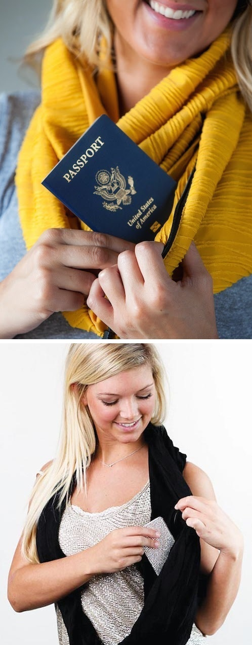 #1. A pocket scarf! Perfect for travel or even just a night out -- 25 Brilliant Clothing Items You Didn't Know You Could Buy