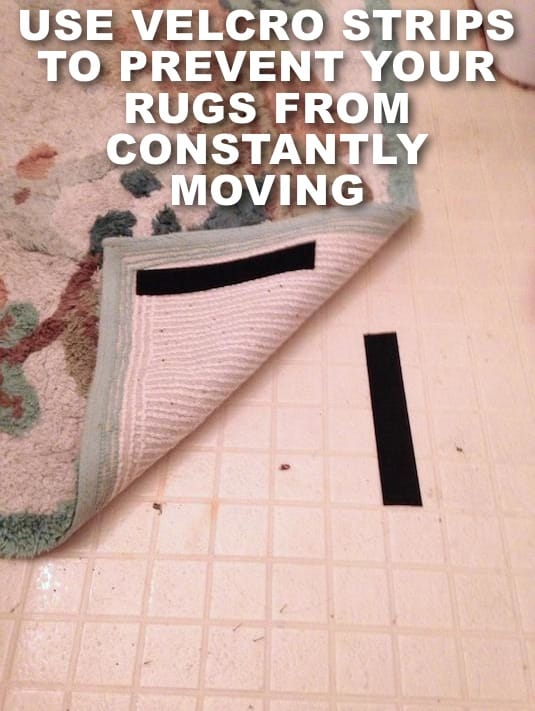 How to keep rugs from moving and slipping around -- Clever DIY life hacks every girl should know! For organization, crafts, ideas, beauty, school, home or just little tips and tricks that will make your life easier. Listotic.com