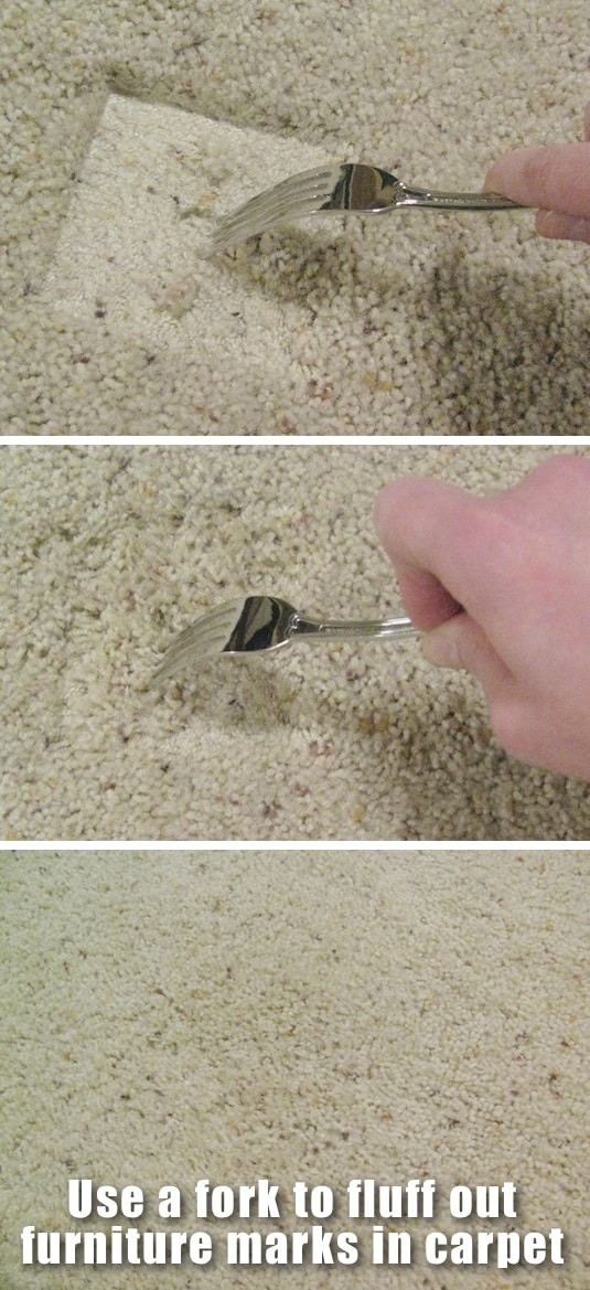 How to get rid of furniture marks in carpet fast -- Clever DIY life hacks every girl should know! For organization, crafts, ideas, beauty, school, home or just little tips and tricks that will make your life easier. Listotic.com