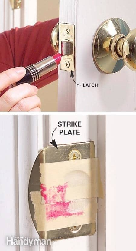 How to fix a door latch -- Clever DIY life hacks every girl should know! For organization, crafts, ideas, beauty, school, home or just little tips and tricks that will make your life easier. Listotic.com