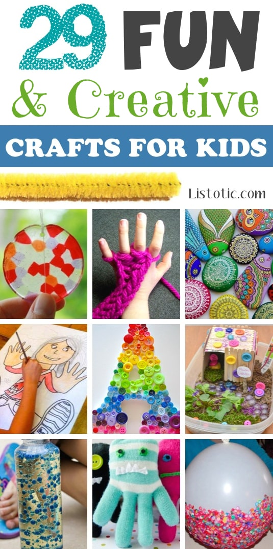 29 Fun Creative Crafts For Kids