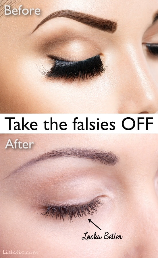 #9. Fake eyelash abuse | 20 Beauty Mistakes You Didn't Know You Were Making
