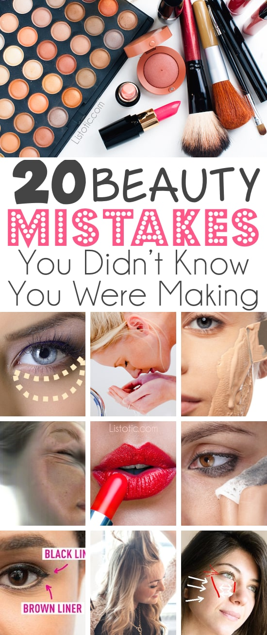 And how to FIX them!! Lots of pictures and tutorials. | 20 Beauty Mistakes You Didn't Know You Were Making | Listotic.com