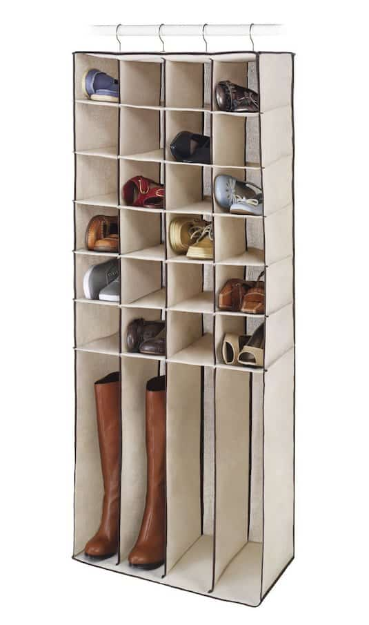 #18. Hanging Shoe Storage (Holds 4 pairs of boots!) -- 55 Genius Storage Inventions That Will Simplify Your Life