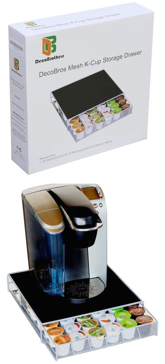 #34. K Cup Storage Drawer -- 55 Genius Storage Inventions That Will Simplify Your Life