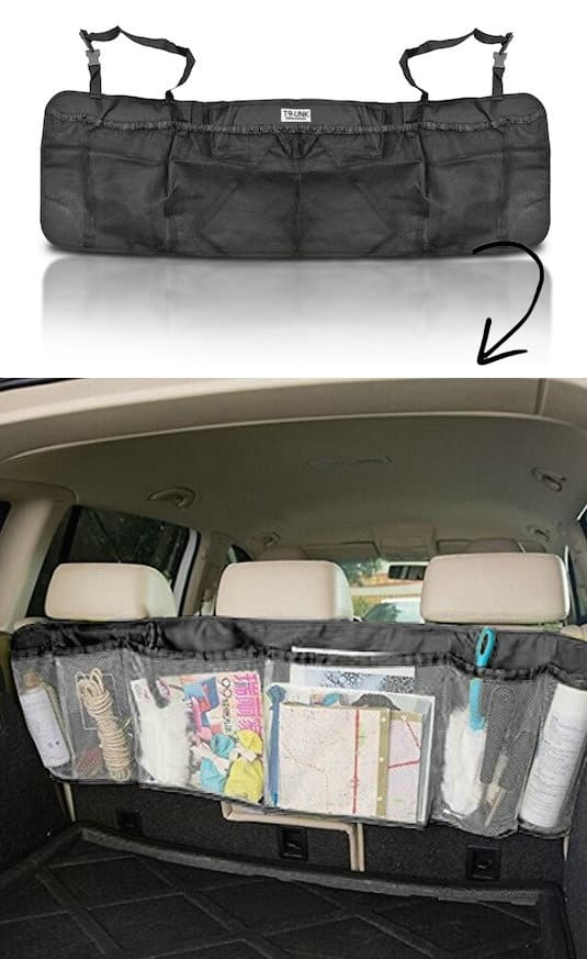 car organization idea -- A ton of easy and cheap organization and storage ideas for the home (car too!). A lot of these are really clever storage solutions for small spaces, bedrooms, bathrooms, closets, kitchens and apartments. | Listotic.com