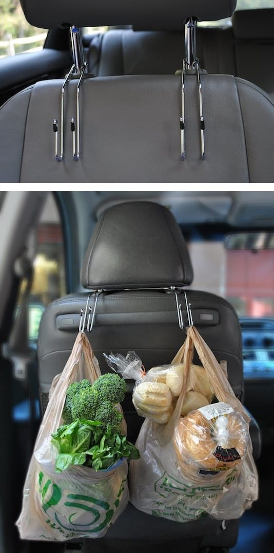 car storage and organization idea -- A ton of easy and cheap organization and storage ideas for the home (car too!). A lot of these are really clever storage solutions for small spaces, bedrooms, bathrooms, closets, kitchens and apartments. | Listotic.com