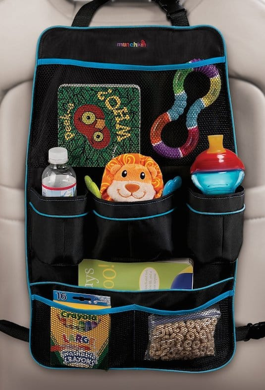 Backseat Car Organizer for kids -- A ton of easy and cheap organization and storage ideas for the home (car too!). A lot of these are really clever storage solutions for small spaces, bedrooms, bathrooms, closets, kitchens and apartments. | Listotic.com