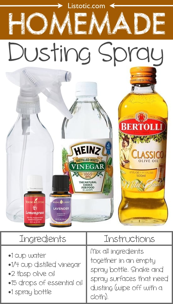 #18. Homemade Dusting Spray -- 22 Everyday Products You Can Easily Make From Home (for less!) These are all so much healthier, too!